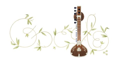Google placed a Doodle to pay homage to pay homage to the sitar maestro Pt. Ravi Shakar on his Birth Anniversary - Mythical India