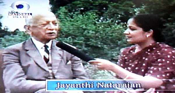 Jayanthi Natarajan interviewing Sam Maneckshaw at DD News - Mythical India
