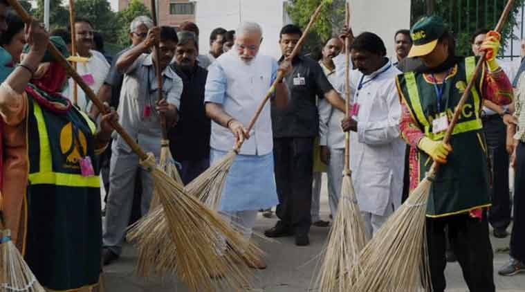 Swachh Bharat Abhiyan has been promoted as participative mission,Narendra Modi - Mythical India