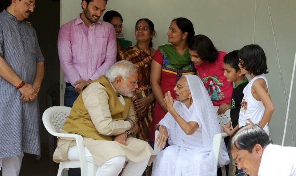 Modi's family in Gujarat, his mother Heeraben Modi - Mythical India