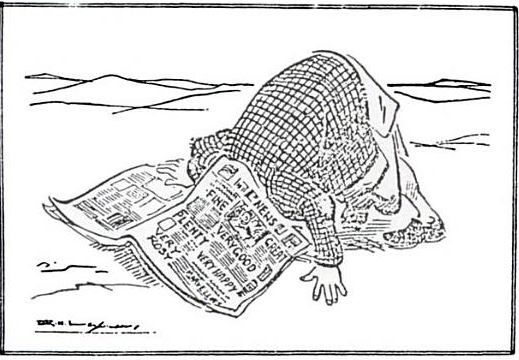 R K Laxman's cartoon on press freedom during emergency and false reporting - Mythical India