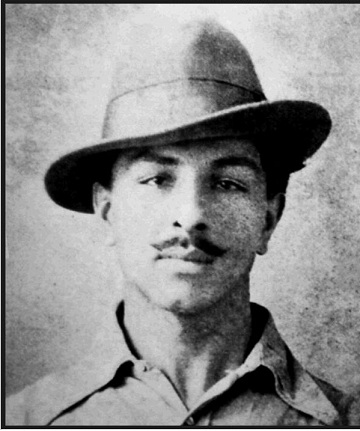 An original photograph of the revolutionary Bhagat Singh in a disguised look - Mythical India