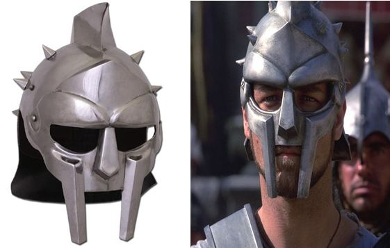 Russell Crowe wearing helmets in Gladiator manufactured in India, Windlass - Mythical India