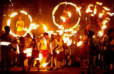 Fire dance in Rajasthan - Mythical India