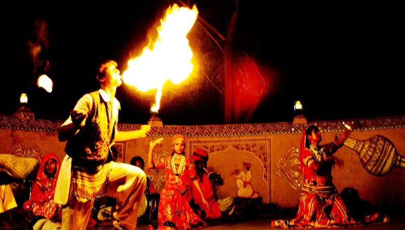 fire-dance-of-rajasthan - Mythical India