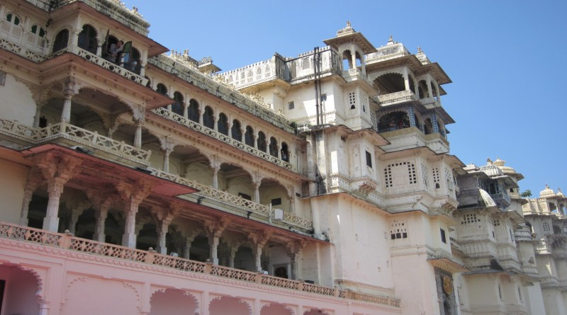 The splendid and grandeur facade of city palace in udaipur - Mythical India
