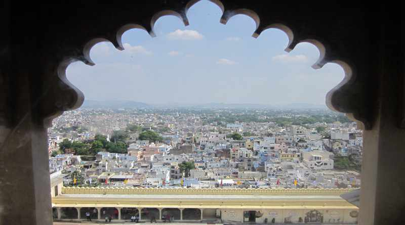 City view from City palace in Udaipur - Mythical India