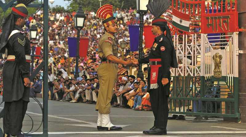 Soldiers at Wagah Border - Mythical India