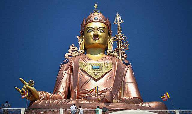 Statue of Rinpoche, Buddhist religious teacher, South Sikkim - Mythical India