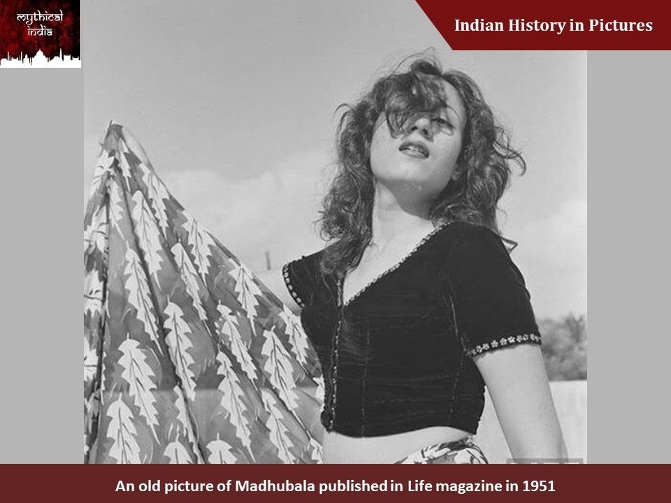 An old picture of Madhubala published in Life magazine in 1951