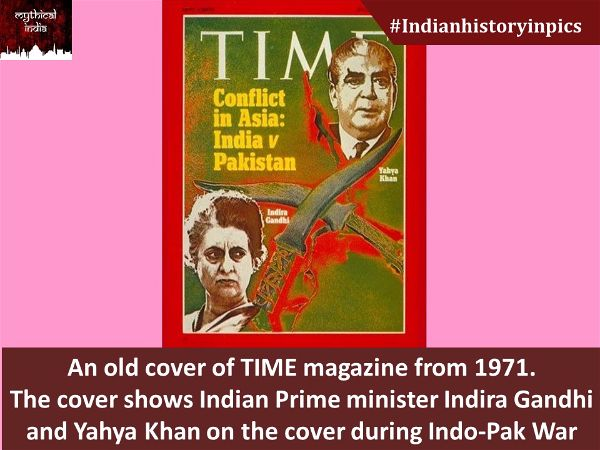 An old cover of TIME magazine from 1971. The cover shows Indian Prime minister Indira Gandhi and Yahya Khan on the cover during Indo-Pak War
